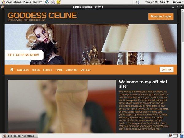 Goddess Celine Logins