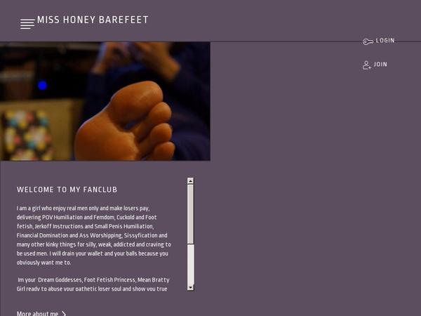 $1 Honeybarefeet.com Trial Membership