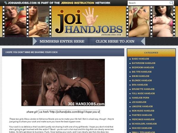 JOI Handjobs Epochstats