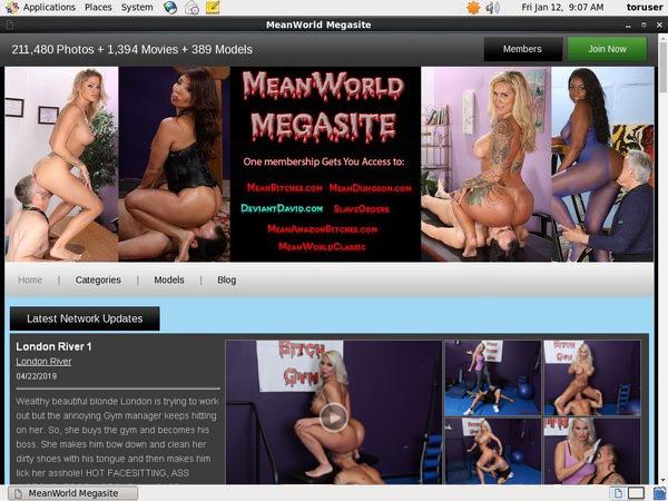 Login Mean World MegaSite Free